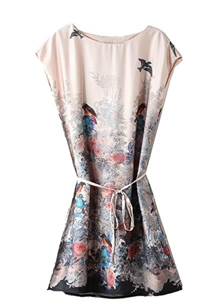 Sheinside - Vestido - recto - para mujer beige aprikosenfarben