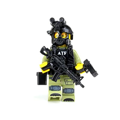 Battle Brick ATF Special Response Team SRT Officer Custom: Toys & Games