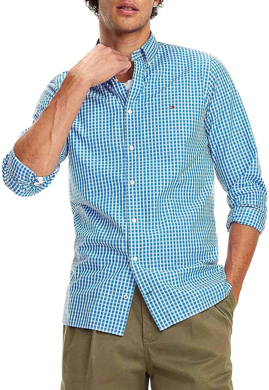 Camisa Tommy Hilfiger Slim Fit Cuadros Azul/Blanco Hombre XL Azul: Amazon.es: Zapatos y complementos