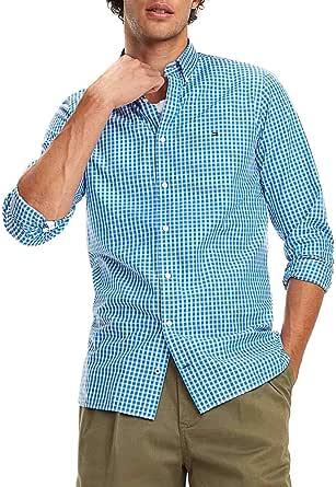 Camisa Tommy Hilfiger Slim Fit Cuadros Azul/Blanco Hombre ...