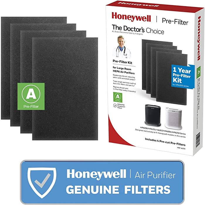 Honeywell HRF-A200 Pre Kit, 4 Pack air Purifier Filter, Black, 4 Count
