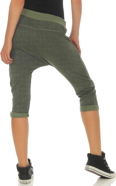 Malito Donna Pantaloni Boyfriend Maglia Design Harem Pantaloni Baggy 7393