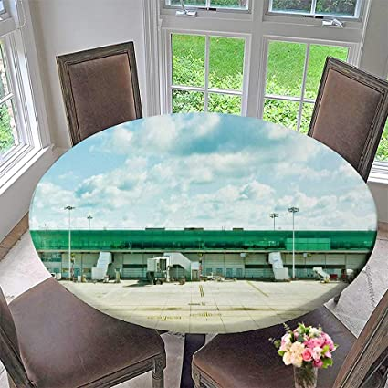 Buffet Round Table.Amazon Com Luxury Round Table Cloth For Home Use A Airport Terminal