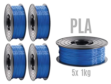 Filamento PLA para impresora 3D, 1,75 mm/5 x 1 kg, rollo ...