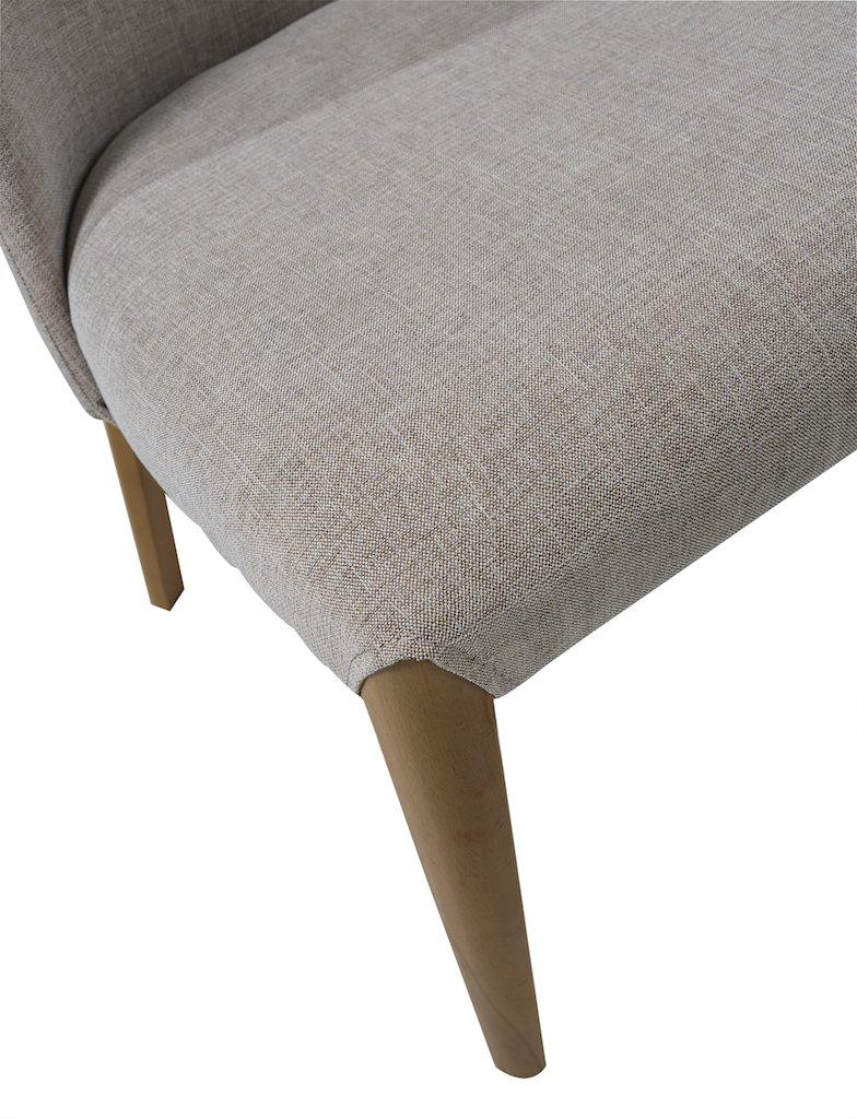 /Lote de 2/sillas Laurence//Beige y Madera K /& Co/