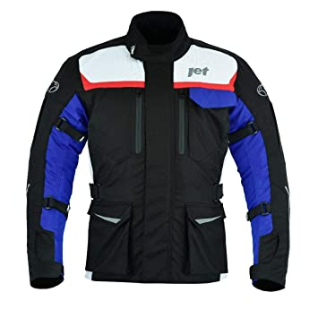 JET Chaqueta Moto Hombre Textil Impermeable con Armadura ...