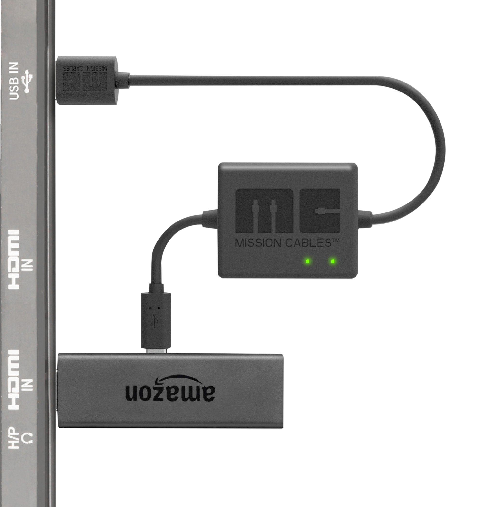 Mission Cables USB Power Cable for Amazon Fire TV Stick (Eliminate the need for AC Adapter)