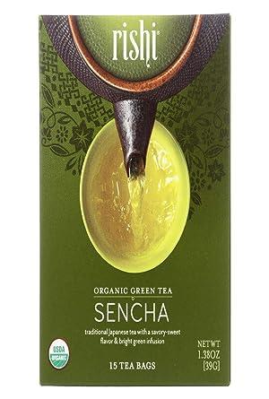 Rishi Tea Orgánico té verde Sencha – -15 bolsas de té ...