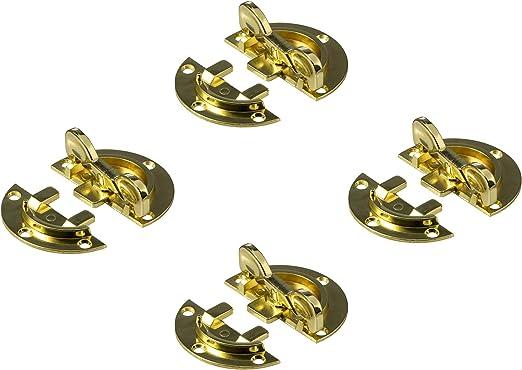 Tischplattenverbinder zum Anschrauben Tischverbinder von SO-TECH/® Arbeitsplattenverbinder Stahl vermessingt Drehriegel /Ø 61 mm