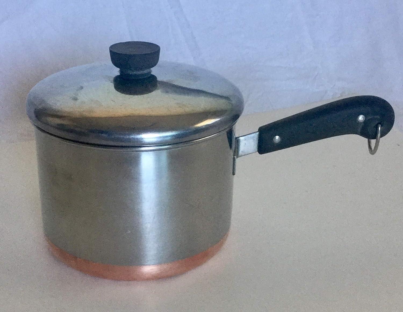 Revere 3qt. Sauce Pan & Lid, Copper Bottom, Vintage, rare size.