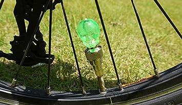 2x 5 LED Wheel Tyre Spoke Valve Cap Flash Light Lamp Decor Bicycle Motorcycle