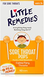 Little Remedies Sore Throat Pops, Made With Real Honey, 10 Count