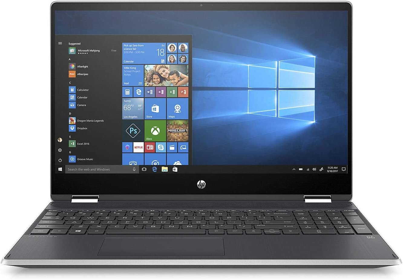 "HP Pavilion X360 15.6"" HD Convertible Touch Laptop, Intel Core i5-8265U Processor, 20GB Memory: 16GB Intel Optane + 4GB RAM, 1TB Hard Drive, 2 Year Warranty Care Pack with Accidental Damage Protection"