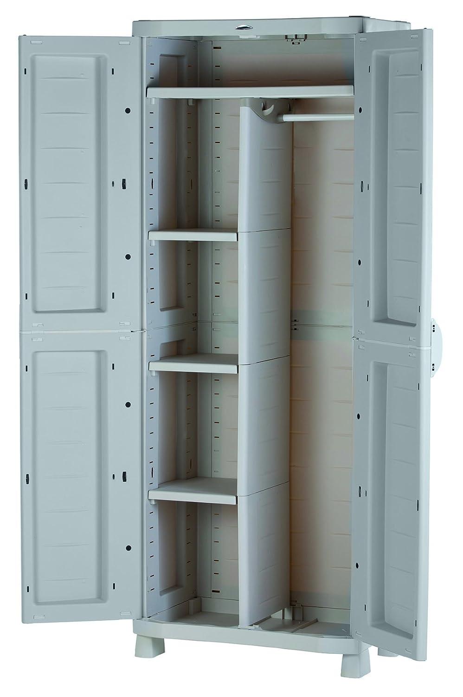 Plastiken Armario SPACE SAVER 70cm ESCOBERO con puertas imitación madera de HAYA (70cm de ancho x 45cm de hondo x 184cm de alto): Amazon.es: Bricolaje y ...