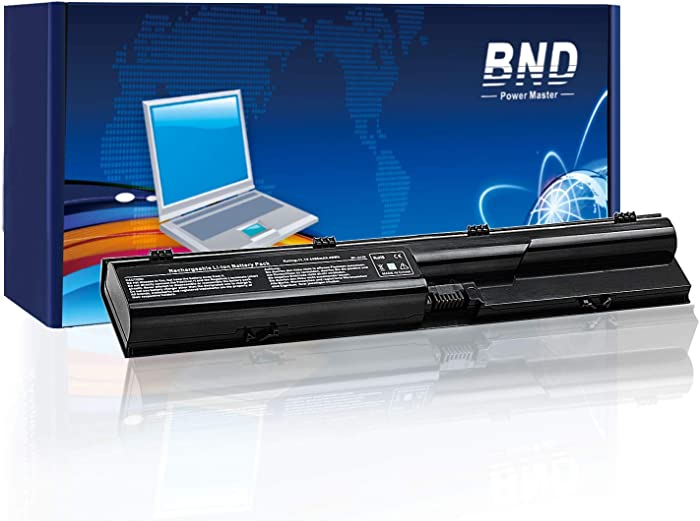 BND 633805-001 Laptop Battery Compatible with HP Probook 4540S 4530S 4535S 4440S 4430S Series, fits P/N PR06 HSTNN-DB2R HSTNN-OB2R HSTNN-IB2R -[4400mAh/49Wh]
