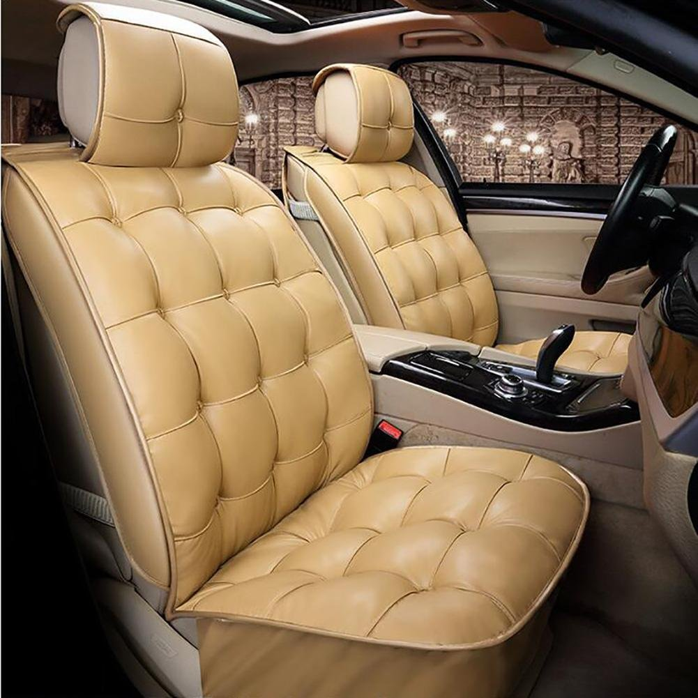 Auto Accessories New 3D Full of Winter Leather Car Cushion Winter Warm Feathers Cushion, Beige, A