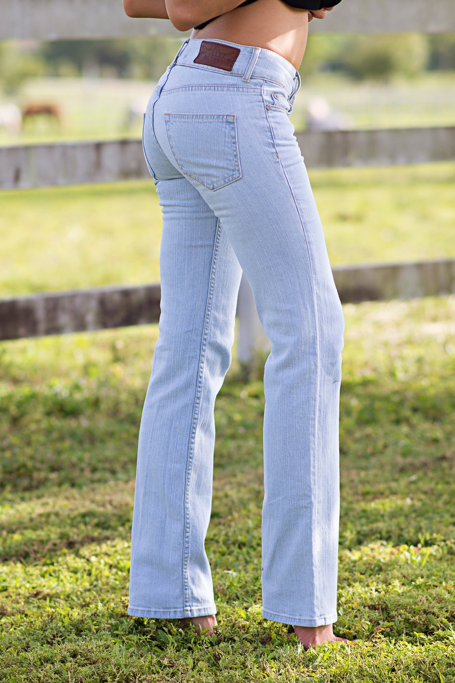 Bullet Blues Sunday Ciel Euro Size 30 US Size 10 - 12 Women's Flare Jeans Made in the USA