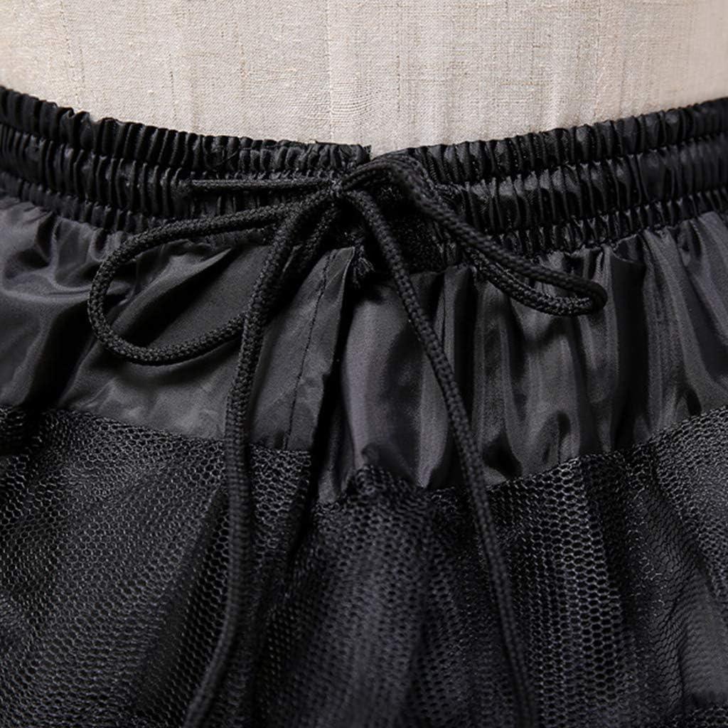 Lunji Kurz Petticoat Vintage Retro Reifrock Petticoat Unterrock Doppelschicht f/ür Wedding Bridal Petticoat Rockabilly Kleid