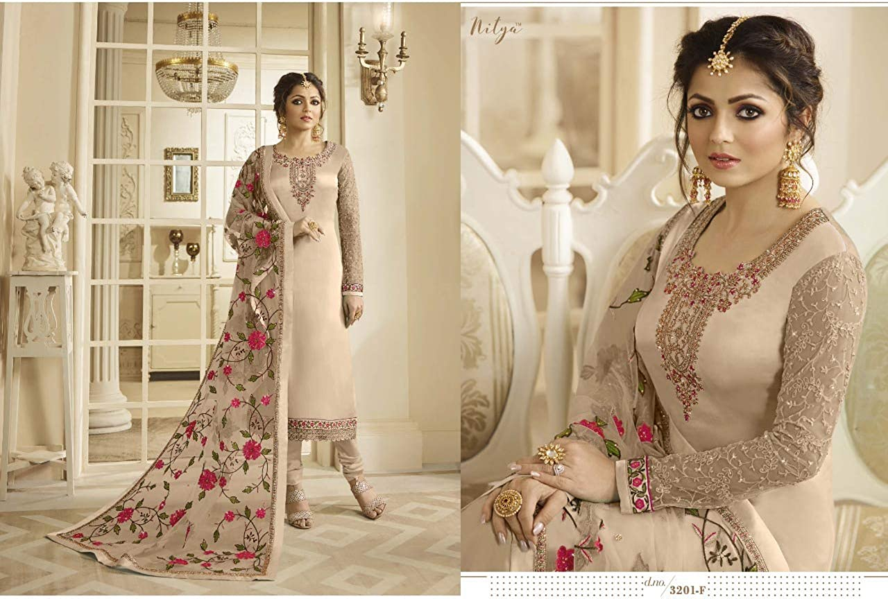 UddanCreation Costume de Couloir Indien Pakistani Bollywood Anarkali Kameez