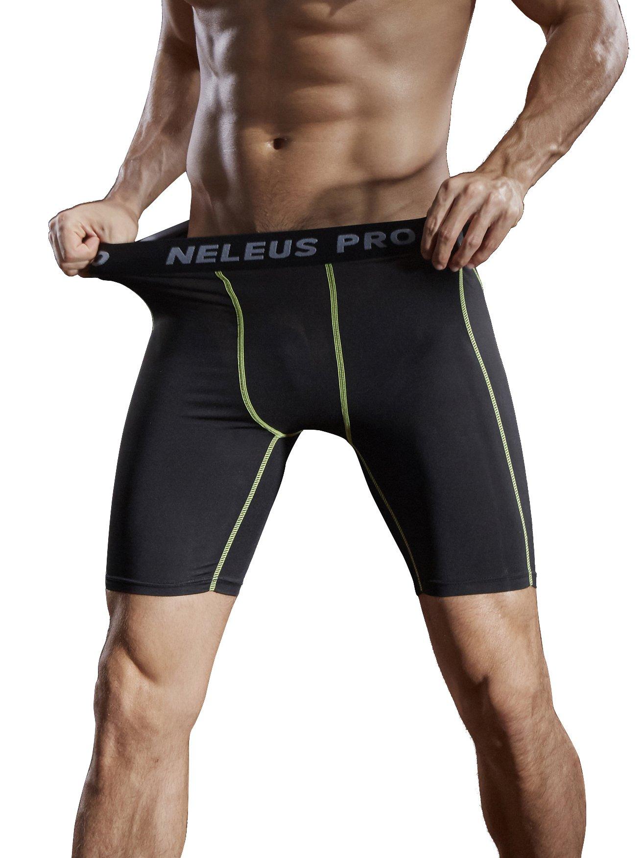 Neleus Men's 3 Pack Compression Short,047,Black,US S,EU M by Neleus (Image #6)