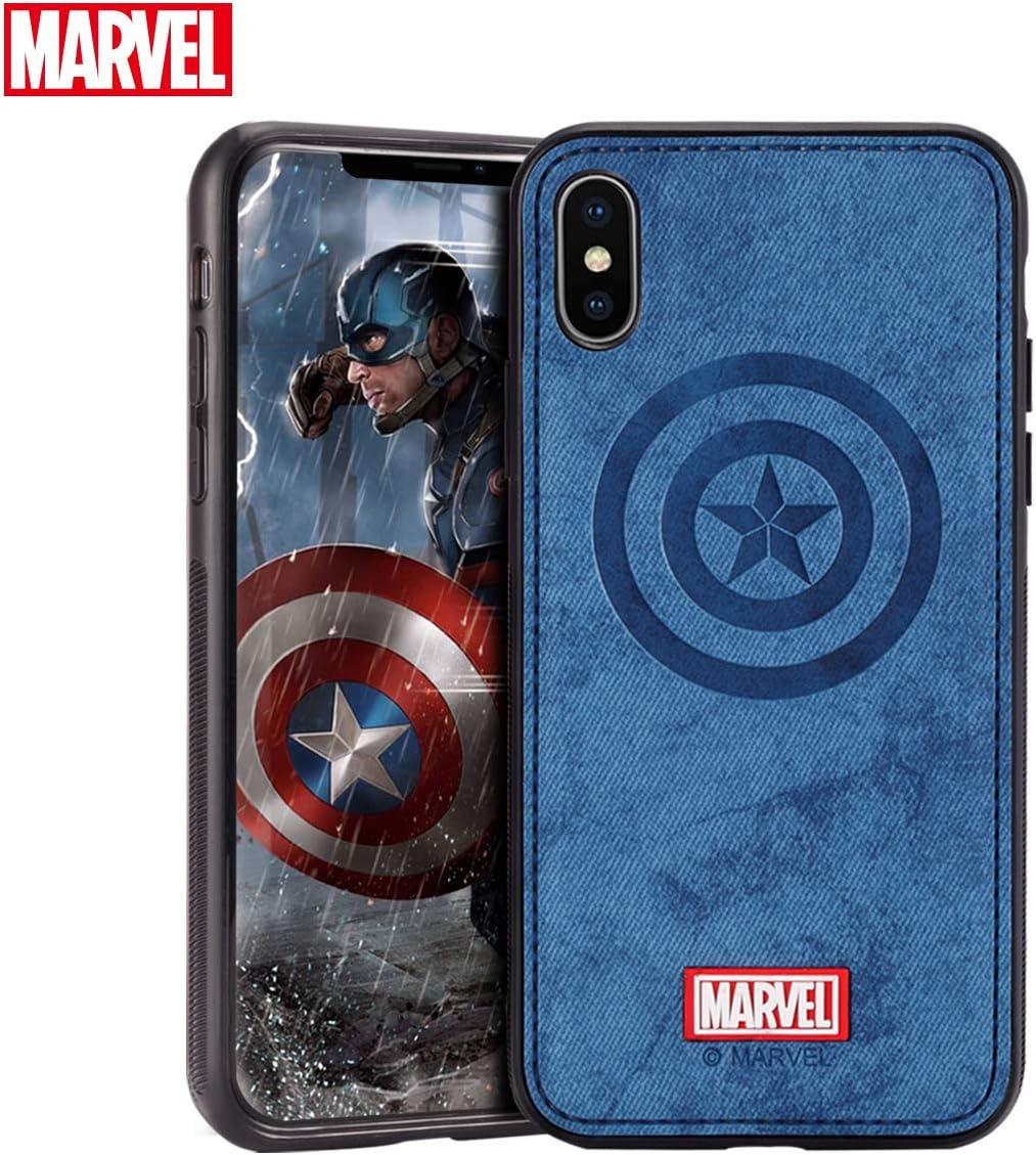 TinPlanet Marvel Avengers Endgame iPhone Xs Case/iPhone X Case, Captain America (Blue)