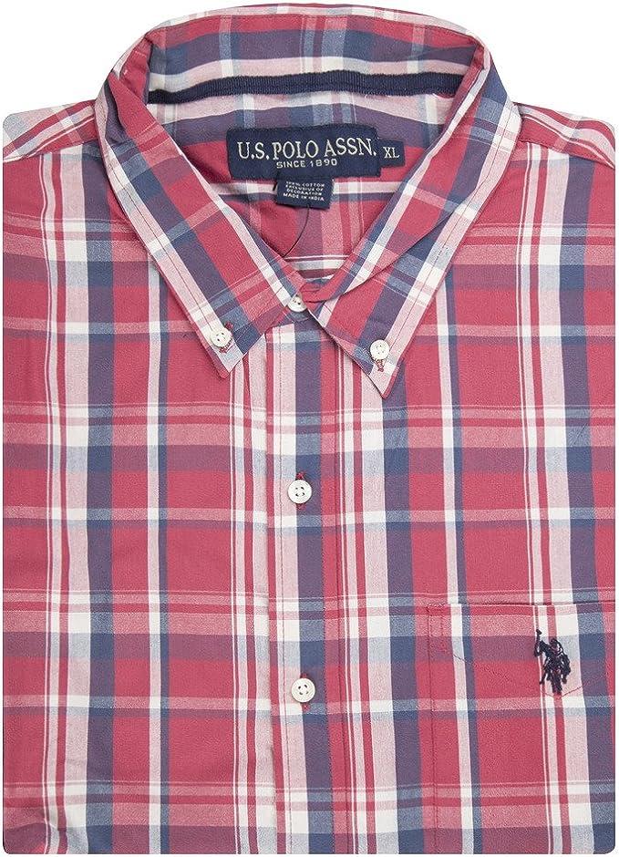 Choose SZ//Color Polo Assn Men/'s Long Sleeve Gingham Plaid Sport Shirt U.S