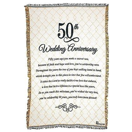 amazon com 50th wedding anniversary poem 48 x 68 all cotton