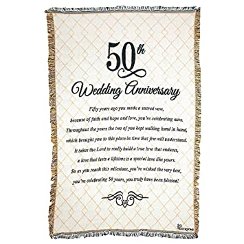 50th wedding anniversary poem 48 x 68 all cotton tapestry throw blanket