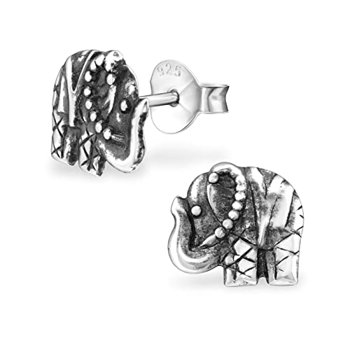 7f9cf8baf Image Unavailable. Image not available for. Color: Sterling Silver Thai  Elephant Wholesale Stud Earrings With Gift Box