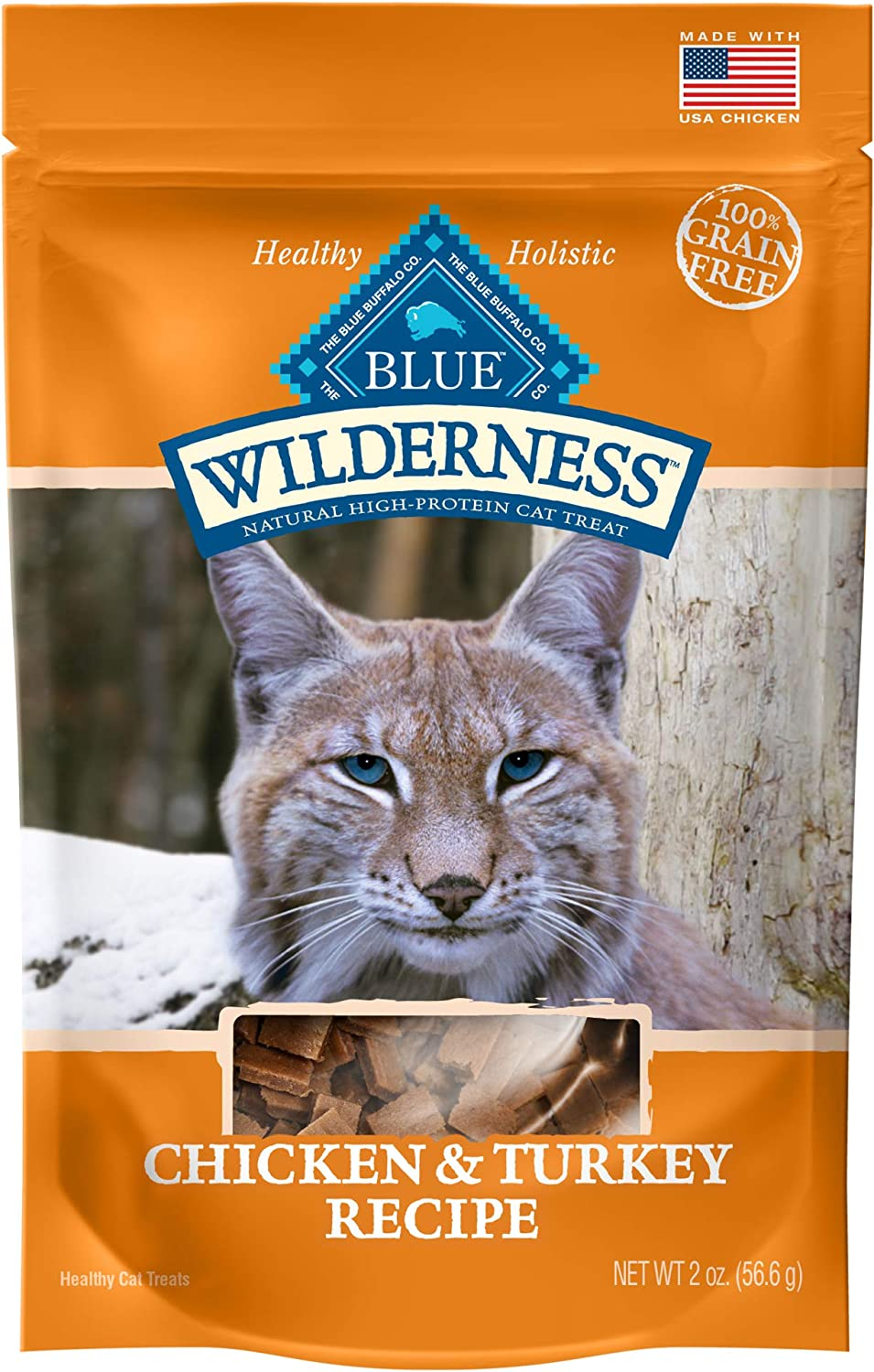 Blue Buffalo Wilderness Chicken & Turkey Grain Free Cat Treats