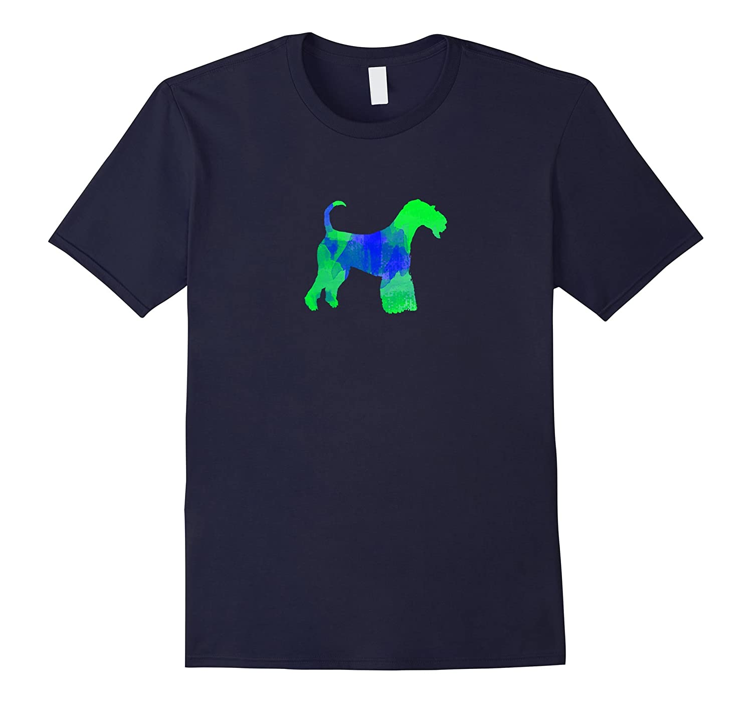 Airedale Terrier Watercolor Dog T-Shirt-azvn