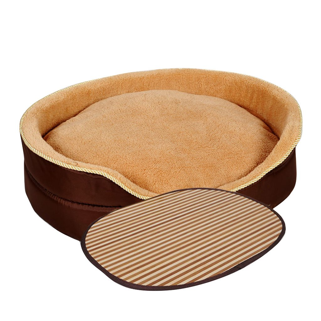 Brown MXXDP Dogs Bed House Sleeping Bag Cushion Pet Bed For Cats Cooling Mat Cool Bed Ice Mat And Small Medium Large Dogs Best Pet Supplies Removable Wash Four Seasons Universal