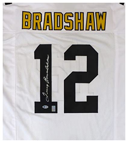 finest selection bc069 fb45b Pittsburgh Steelers Terry Bradshaw Autographed Signed White ...