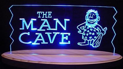 Amazon com: Man Cave Acrylic Lighted Edge Lit LED Sign 13