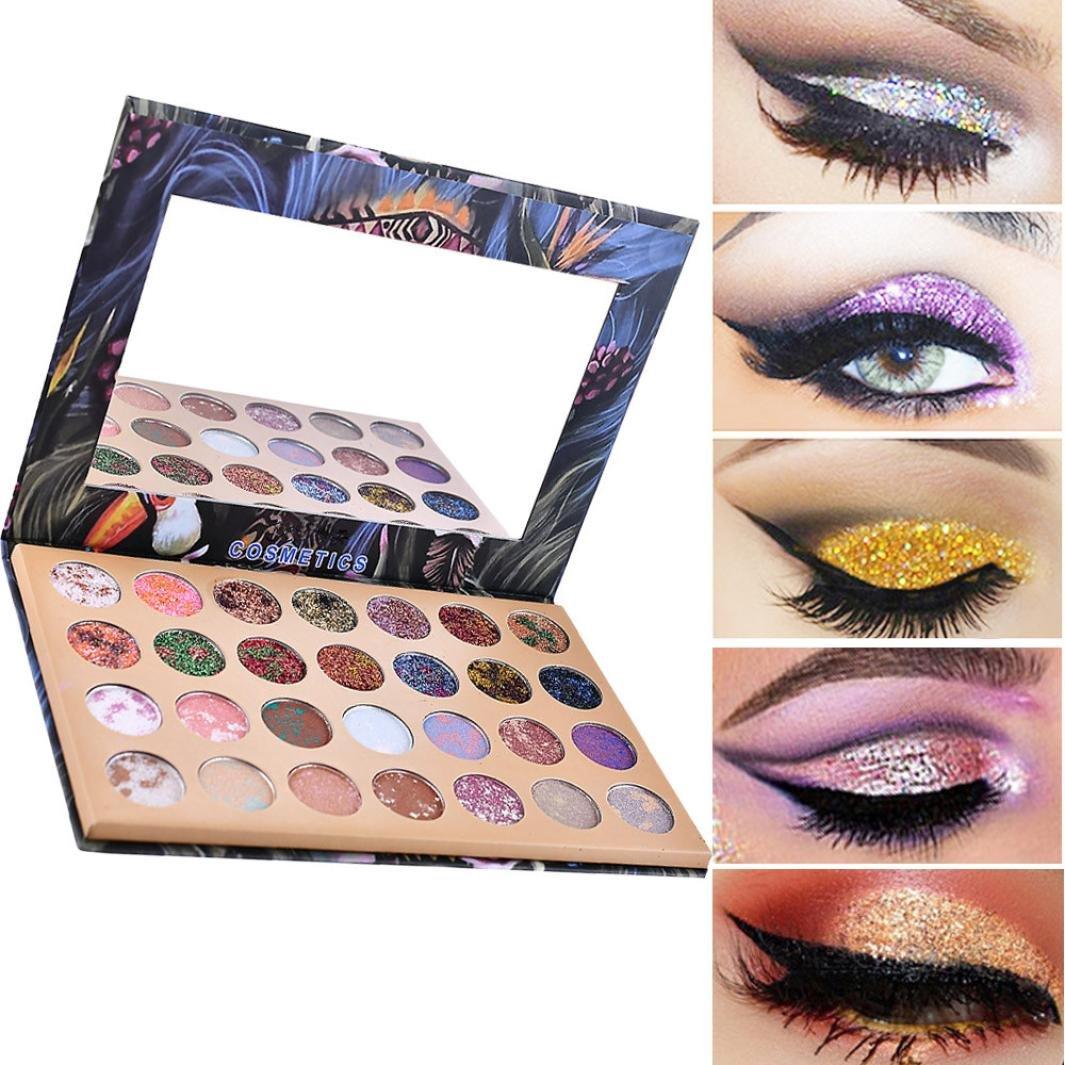 Ecosin 28 Color Starry Sky Shimmer Glitter Eye Shadow Plate Powder Diamond Matt Eyeshadow Palette