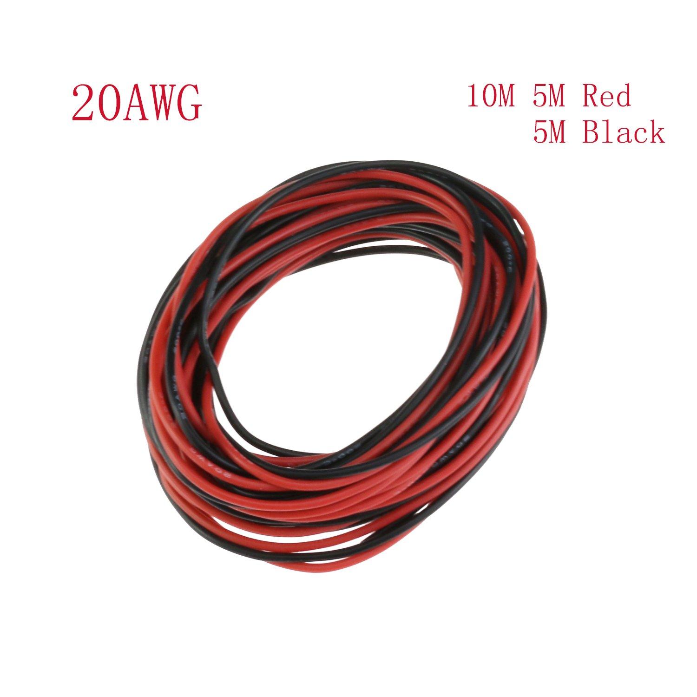 YCNK 20 AWG Gauge Silikon Draht 10M weichen und flexiblen Kupfer ...