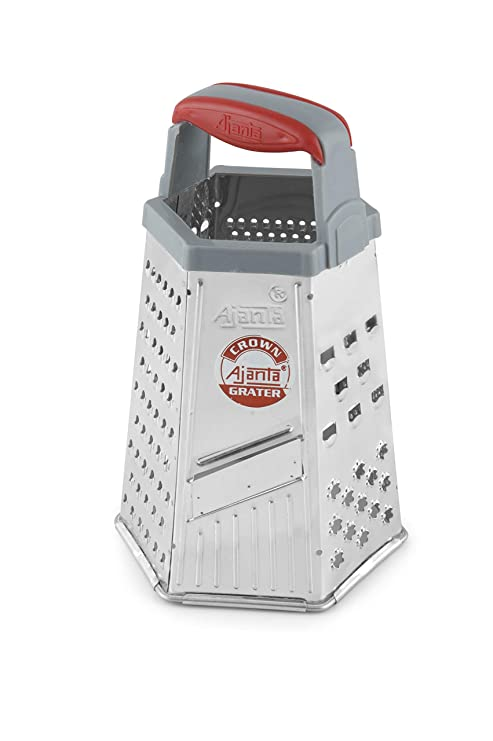 Ajanta Stainless Steel Multi Purpose 6 in 1 Slicer and Grater, Metallic(CN06) Graters & Slicers at amazon