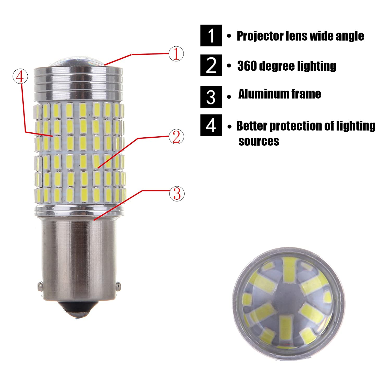 OCPTY T10 LED Light Bulb 194 168 W5W Extremely Bright LED Bulb Replacement fit for Backup Light Car Interior Dome License Plate Door Lights T10 6000K White