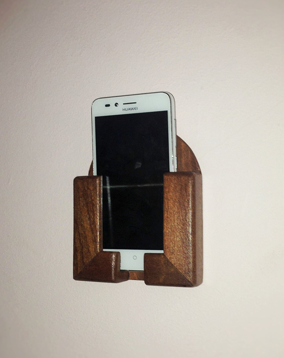 *FREE SHIPPING* Wall-mounted Cherry Wood Mobile Phone / Smartphone holder