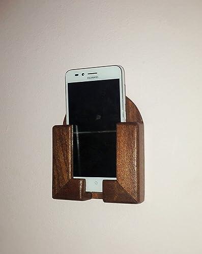 Soporte de pared para teléfono móvil / Smartphone en madera color ...
