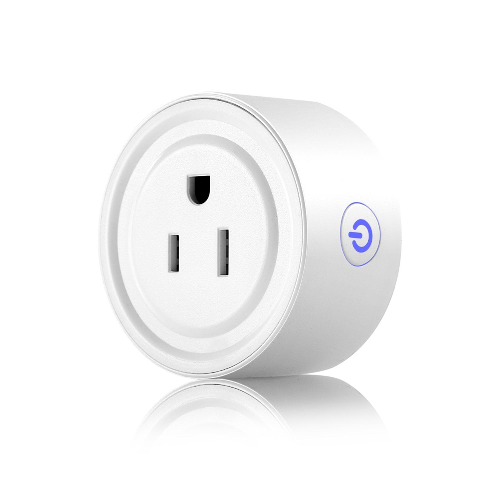Apromio Round 10A Wi-Fi Enabled Mini Smart Socket Works with Amazon Alexa Google Home Plug