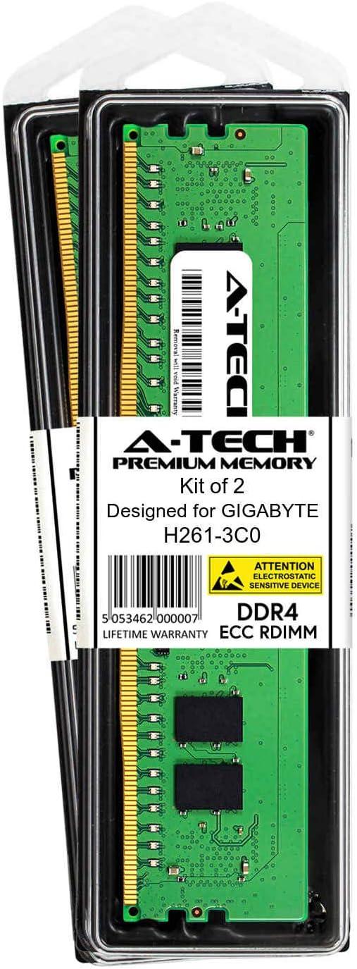 DDR4 PC4-21300 2666Mhz ECC Registered RDIMM 2rx8 AT385227SRV-X1R14 A-Tech 8GB Module for GIGABYTE H261-3C0 Server Memory Ram
