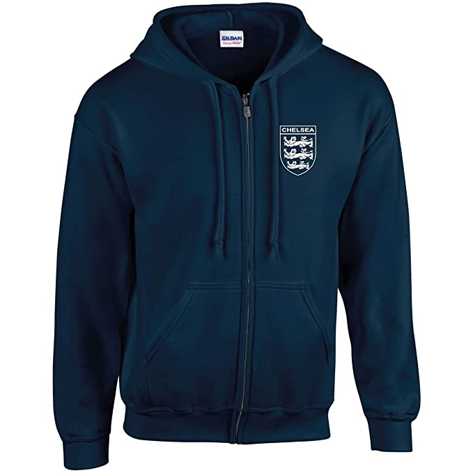 CHELSEA 3 LIONS CLUB AND COUNTRY SMALL CREST HOODIE KIDS