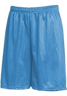 196e38e6350694 Mens Mesh Shorts with Pockets Plain Workout Jersey Pants Soft Basketball  Gym Fitness