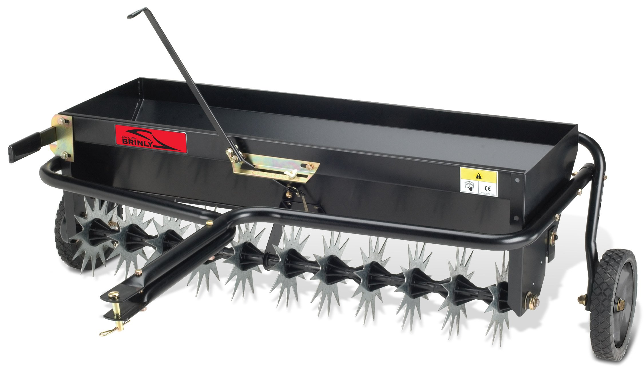 Brinly AS-40BH Tow Behind Combination Aerator Spreader, 40-Inch by Brinly