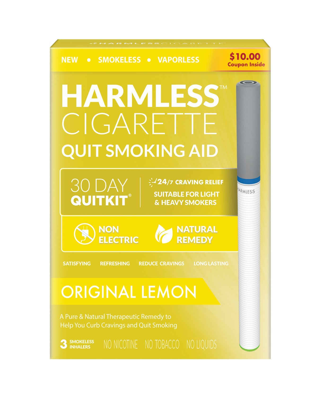 4 Week Quit Kit/Natural Quit Smoking Remedy/Therapeutic Quit Smoking Product/Stop Smoking Aid to Help Quit Smoking/Best Stop Smoking Product. (Original Lemon, 4 Weed Quit Kit)