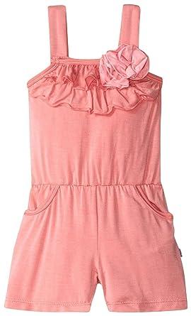 223f07636f8 Amazon.com  Kickee Pants Girls  Flower Romper with Pockets  Prd-kpfr142-Drlt  Clothing