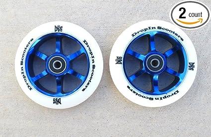Amazon.com: DIS 110 mm Blanco sobre azul 6 Radios metal core ...