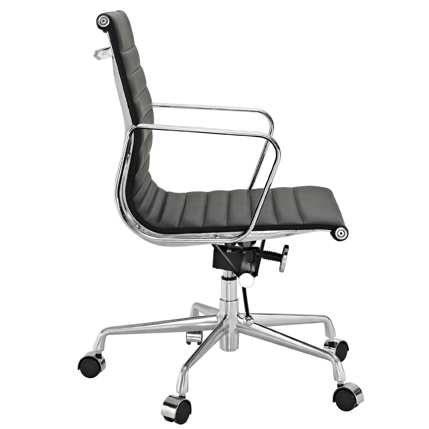 eames style office chairs. Eames Group Aluminium Chair #CF-035-Low Back Office Chair- Real Leather Executive Chiar Conference Chair-Black: Amazon.ca: Home \u0026 Kitchen Style Chairs A