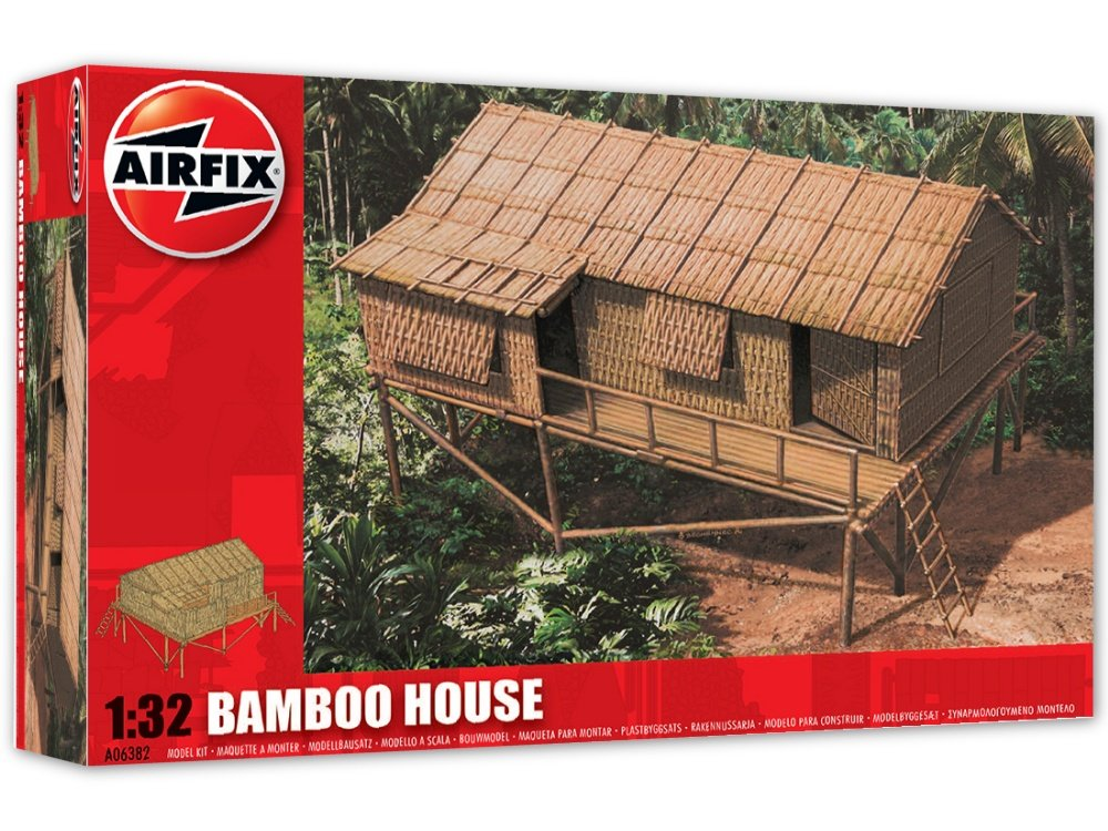 Airfix Bamboo House Model Kit 1:32 Scale